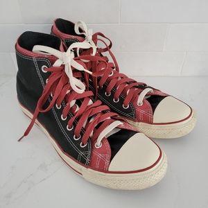 Converse All Star Dual Upper High Top Sneaker Patent Pending Mens 12 Red Black